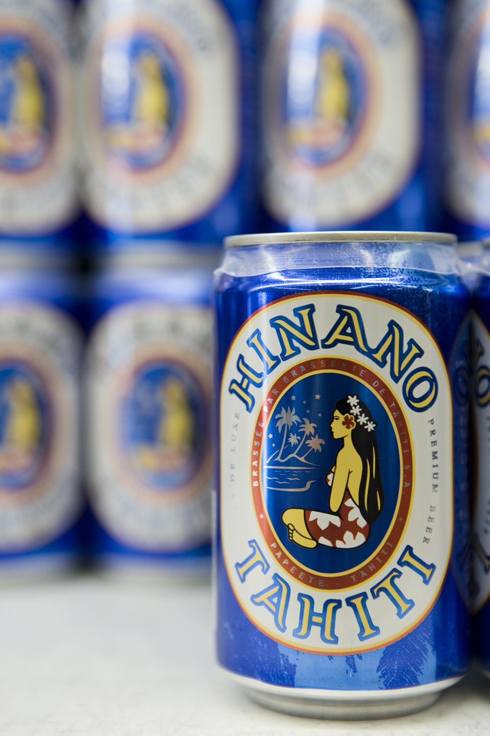Cans of Hinano Lager