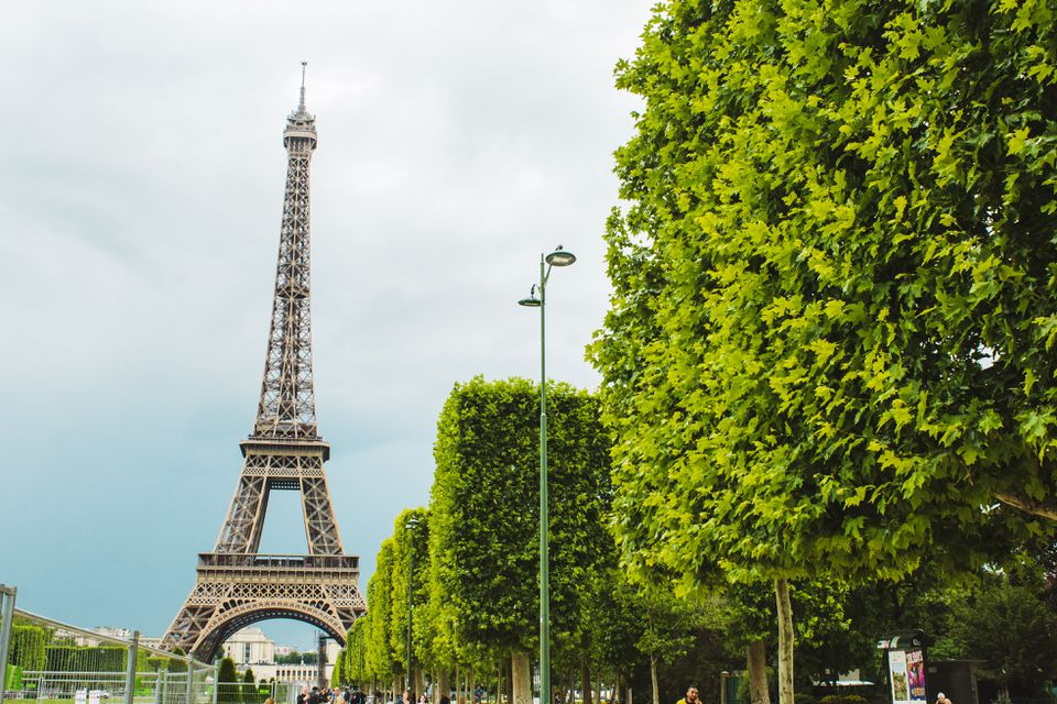 View of the eifell tower from Champ de mars