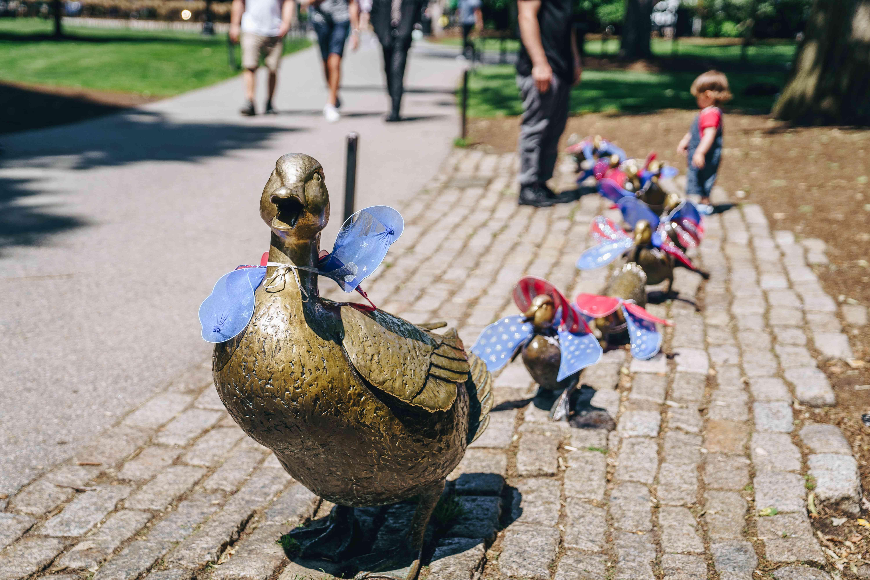 Duck Statues in boston public garden