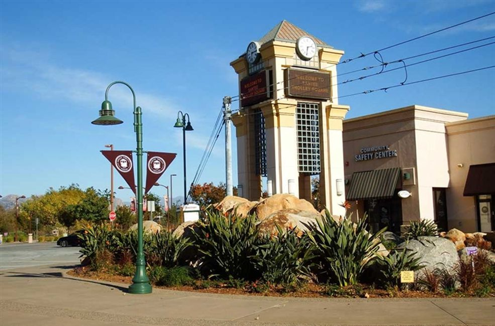 Santee Trolley Square Clock Tower