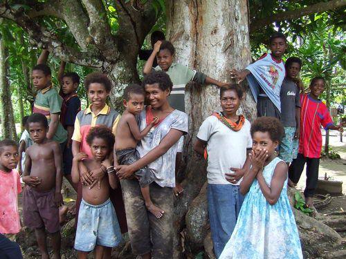 Papua New Guinea Children at BilBil Village near Madang