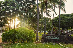 Sign for Honolulu Zoo