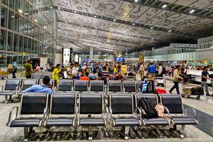 Kolkata airport departures.
