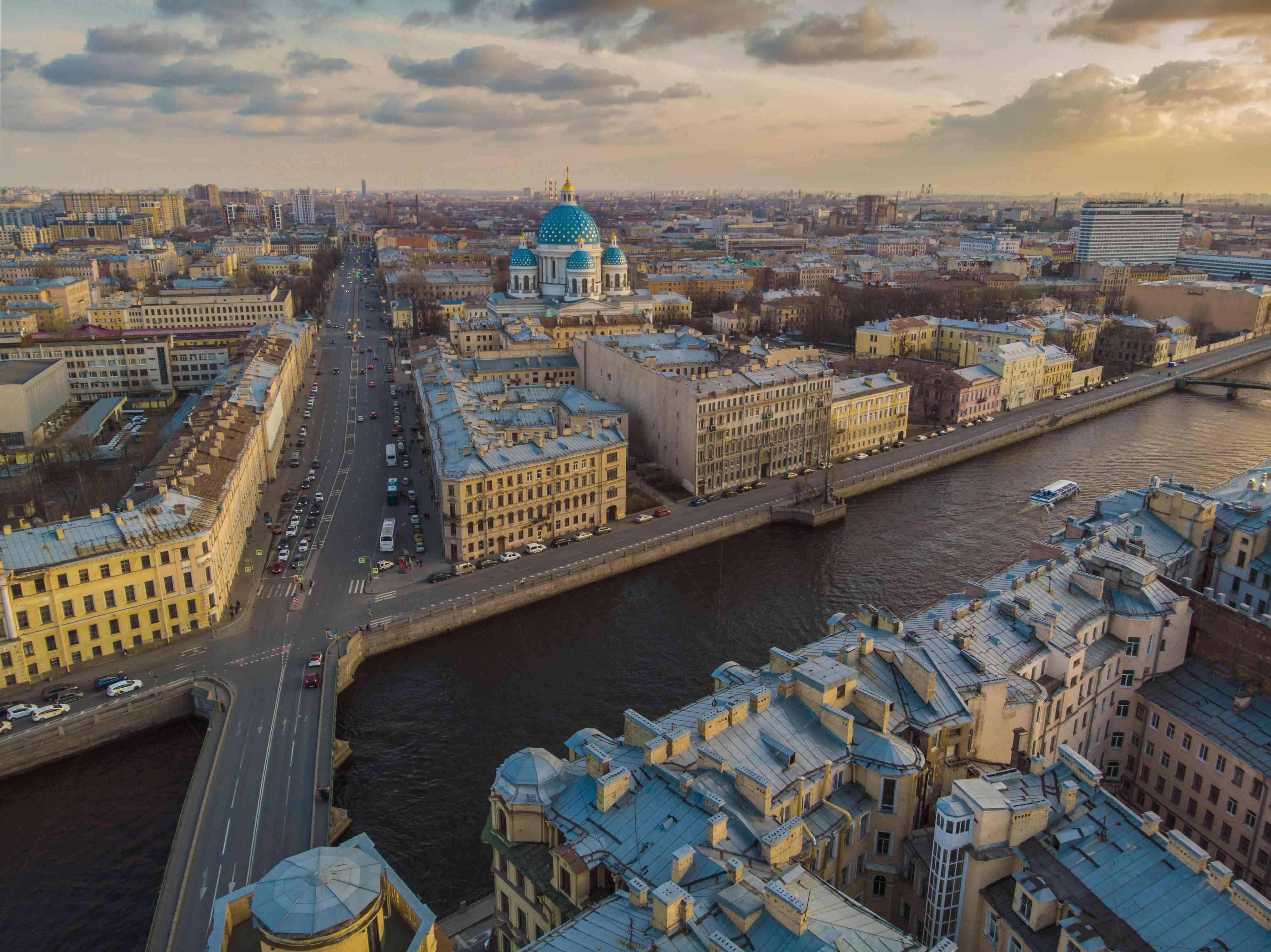 Evening St.Petersburg city view