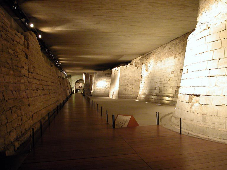 The medieval foundations of the Louvre can still be visited today.