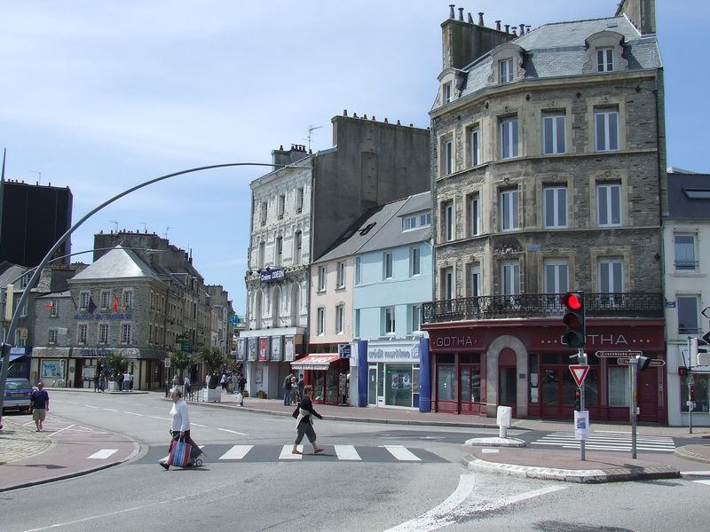 Street Along the Yacht Basin in Cherbourg