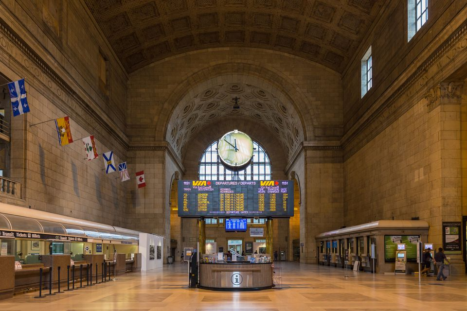 Interior of Union Station in Toronto, Canada