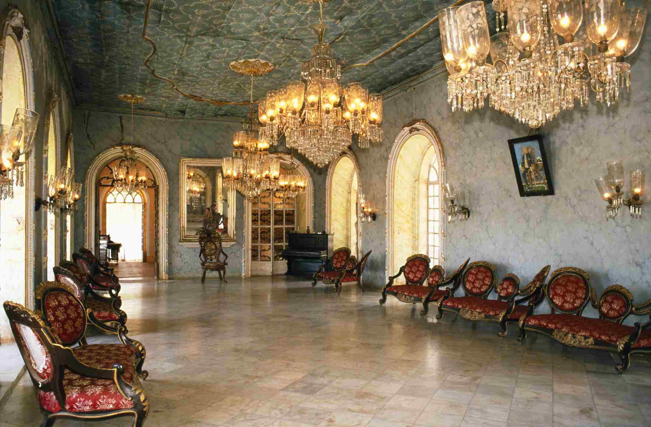 Ballroom at the Braganza House.