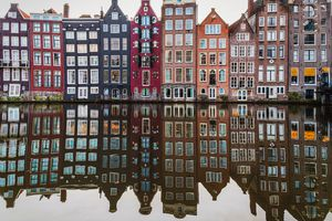 Row of houses in Amsterdam, the Netherlands