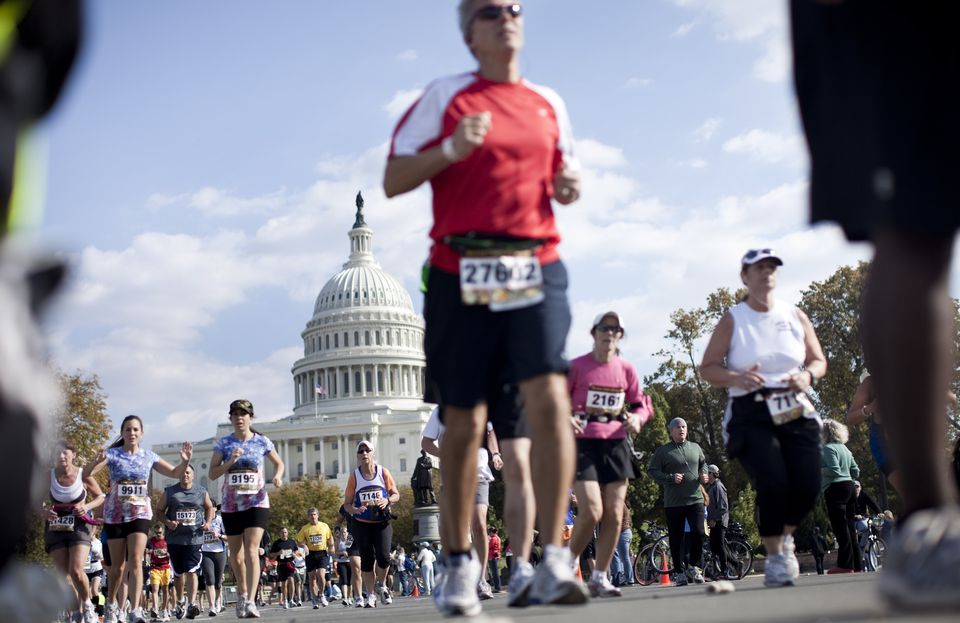 Marathon Runners in Washington D.C.