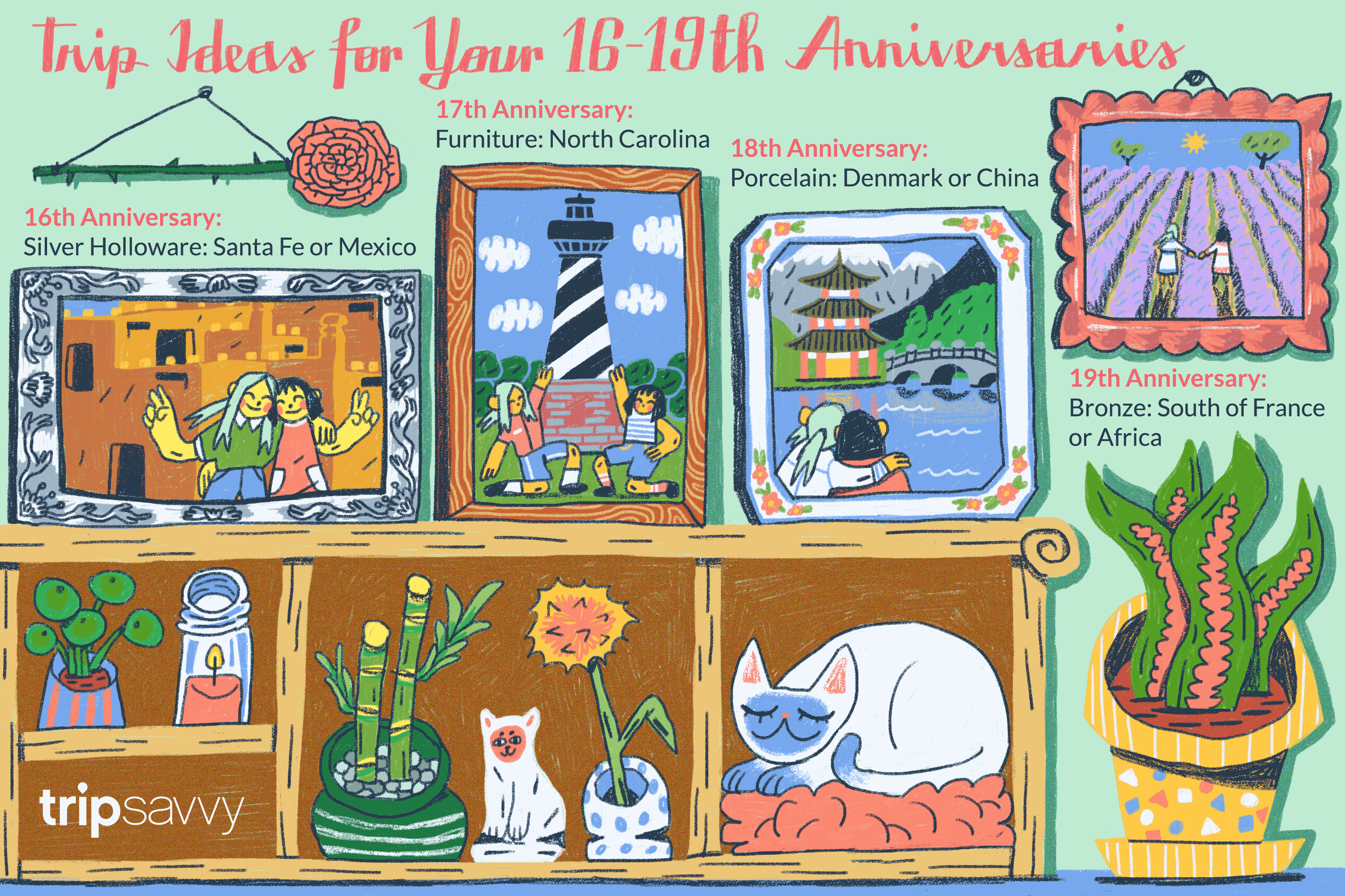 Gifts For 17th Wedding Anniversary: Gift Ideas For 16, 17, 18, And 19 Year Anniversaries
