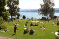 A beach on Lake Zurich