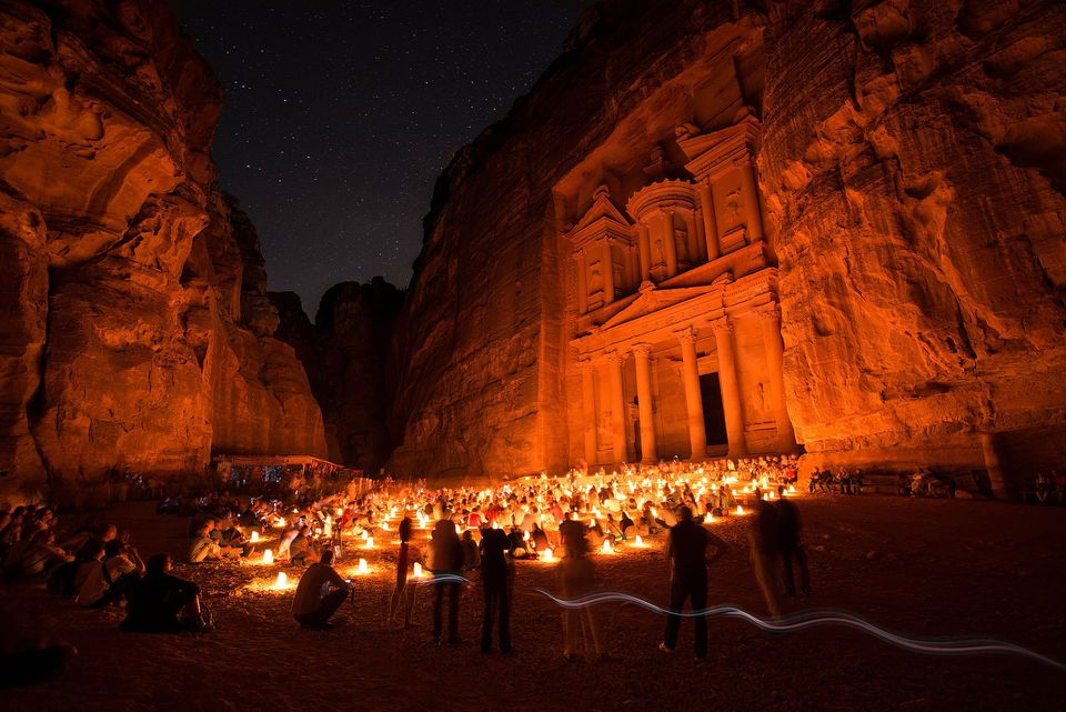Petra, Jordan, at night