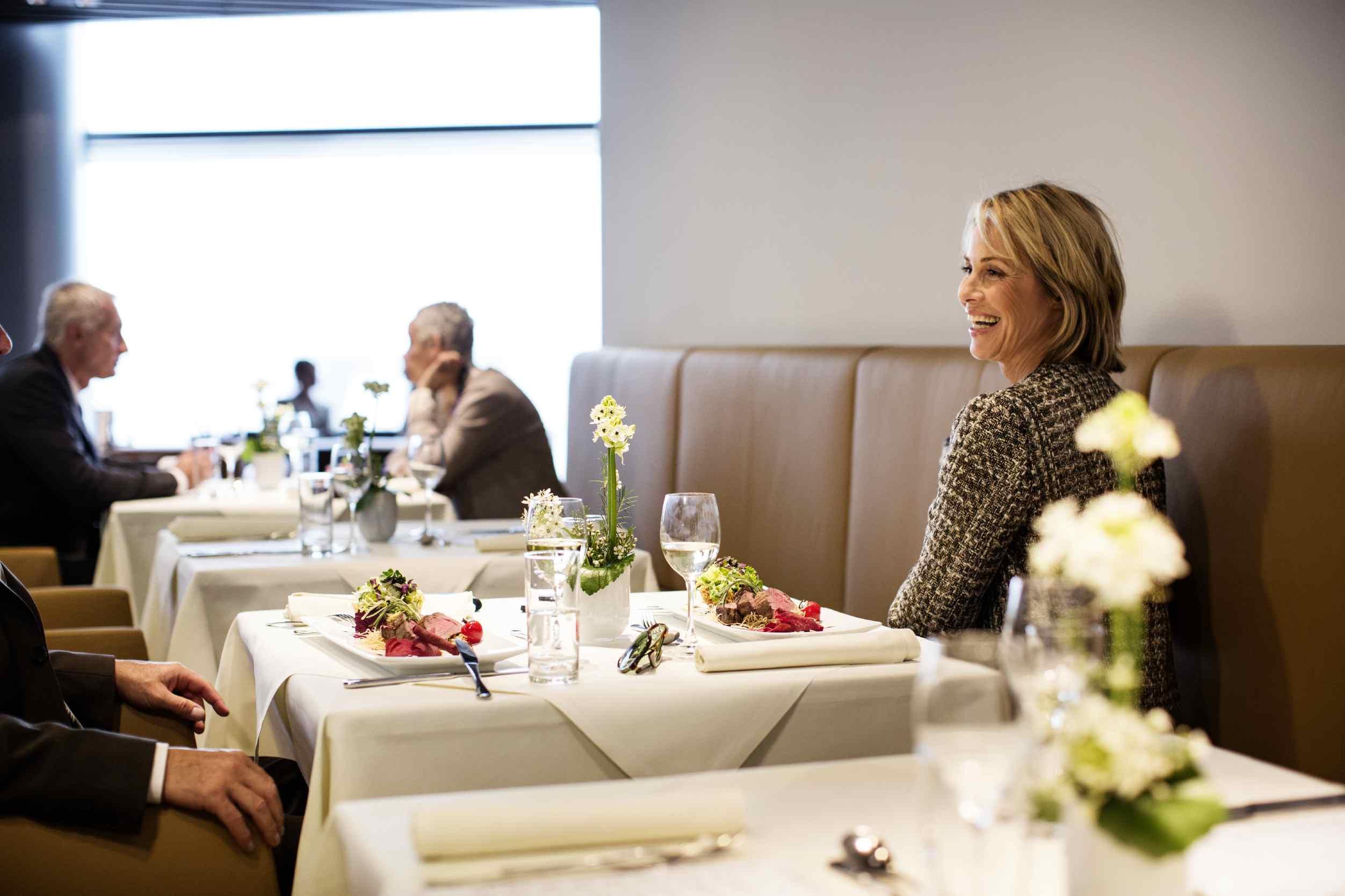 Lufthansa first class pre-departure meal