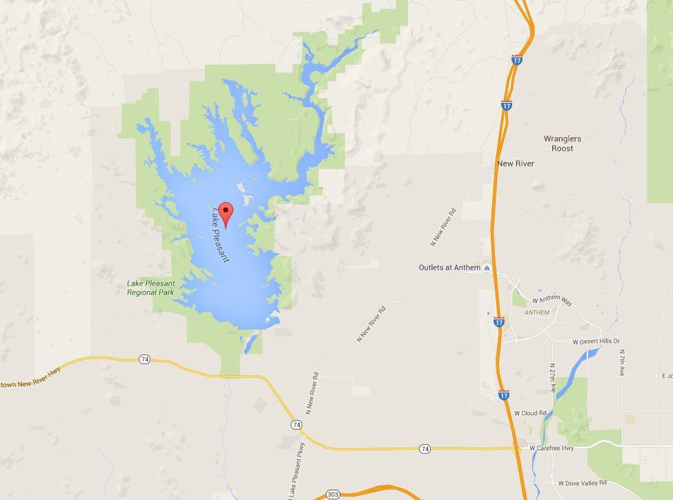 lake pleasant arizona map Lake Pleasant Park And Marinas Map And Directions lake pleasant arizona map