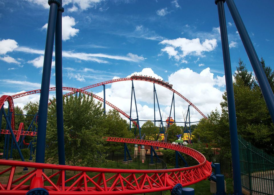 Superman coaster at Six Flags New England