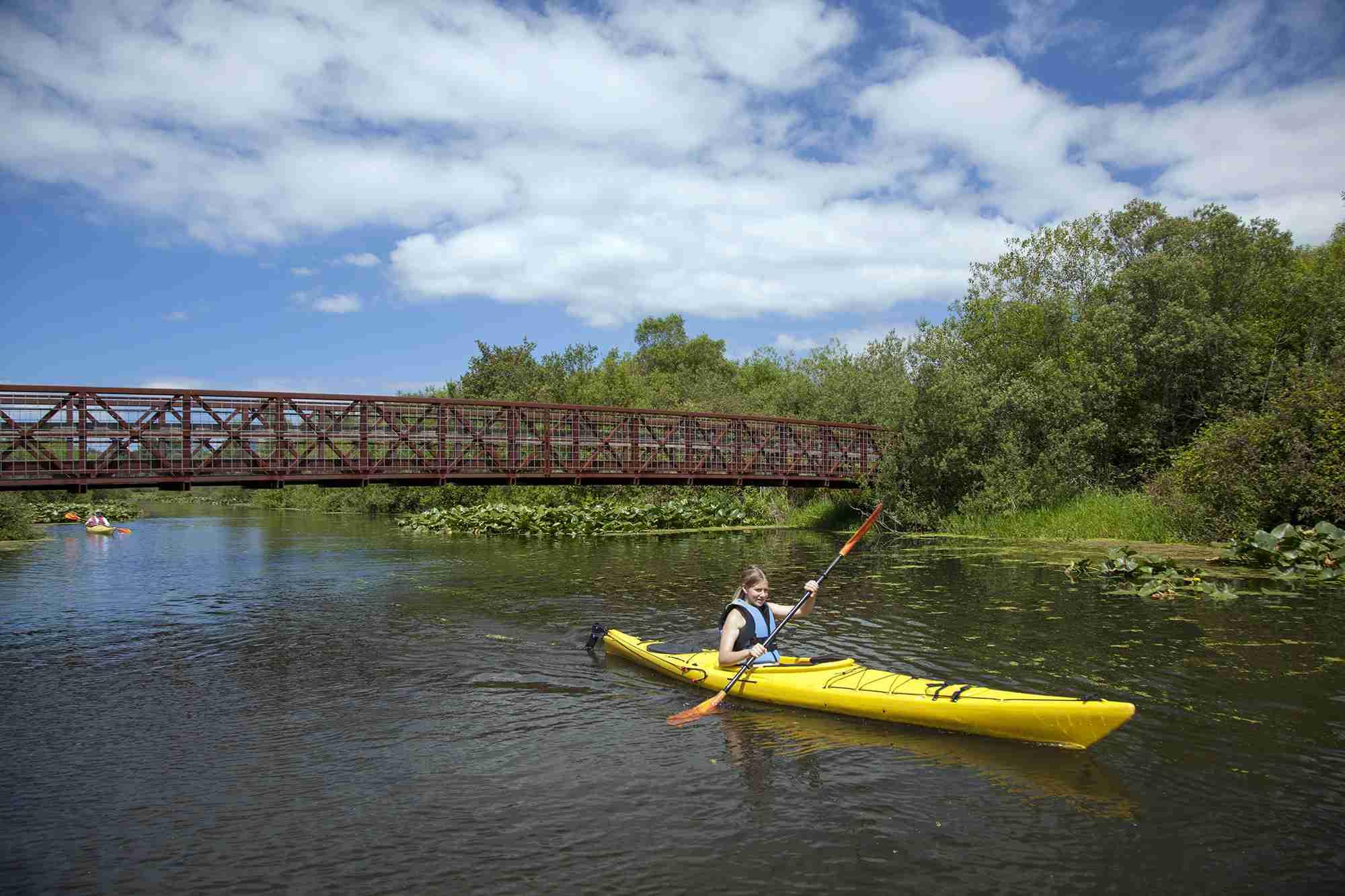 Kayaking in Mercer Slough Nature Park