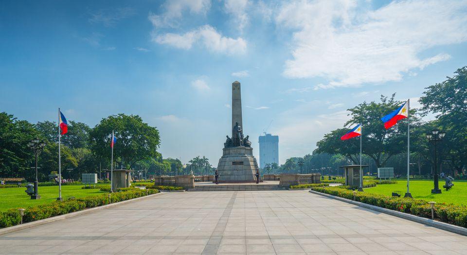 Rizal Monument in Rizal Park, Manila, Philippines