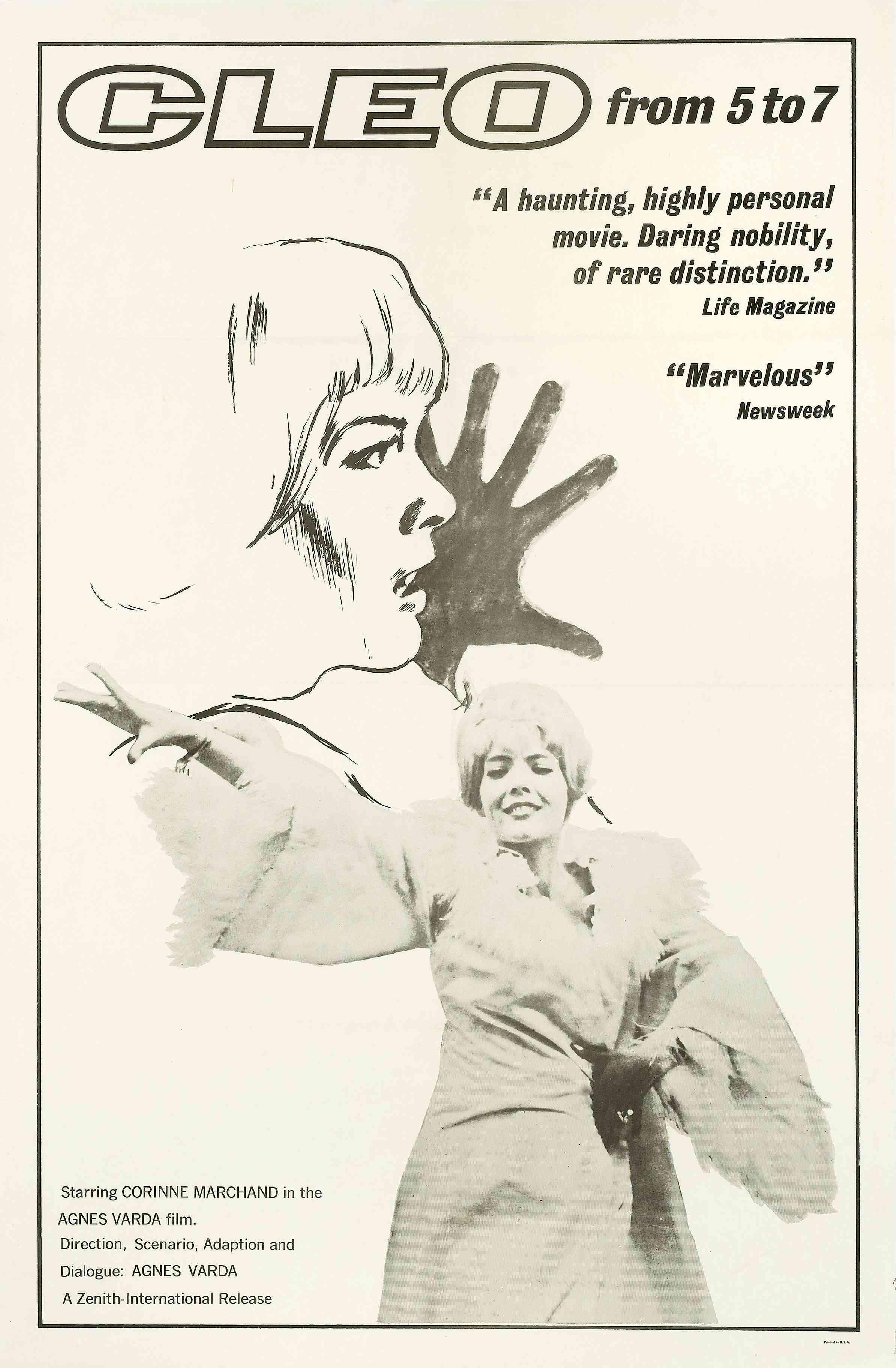 Cléo de 5 à 7, a film by Agnès Varda, film poster
