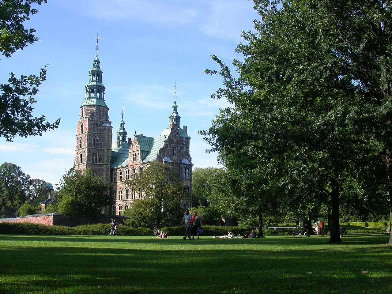 El jardín del rey en el castillo de Rosenborg.