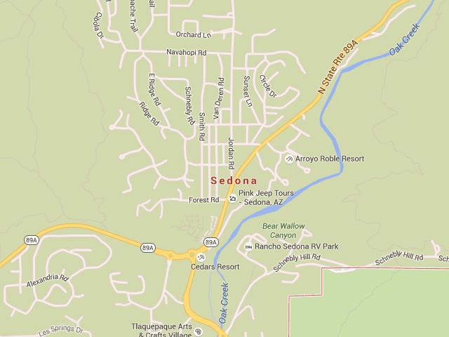 Map Of 89a Arizona.Sedona Arizona Map With Directions And Address