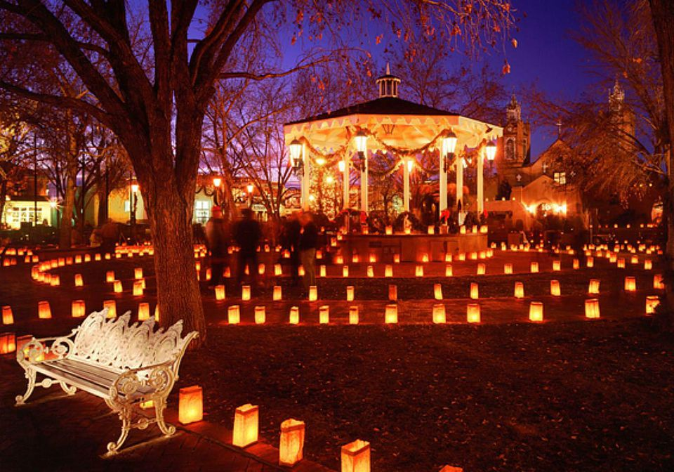 Luminaria Tour in Albuquerque at Christmas