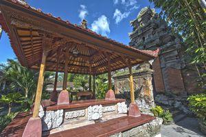 Pavilion at Ubud royal palace, Bali, Indonesia