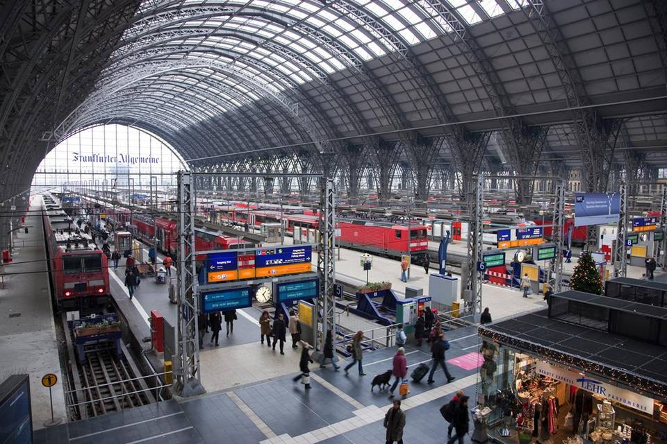 Interior of Frankfurt Central Train Station
