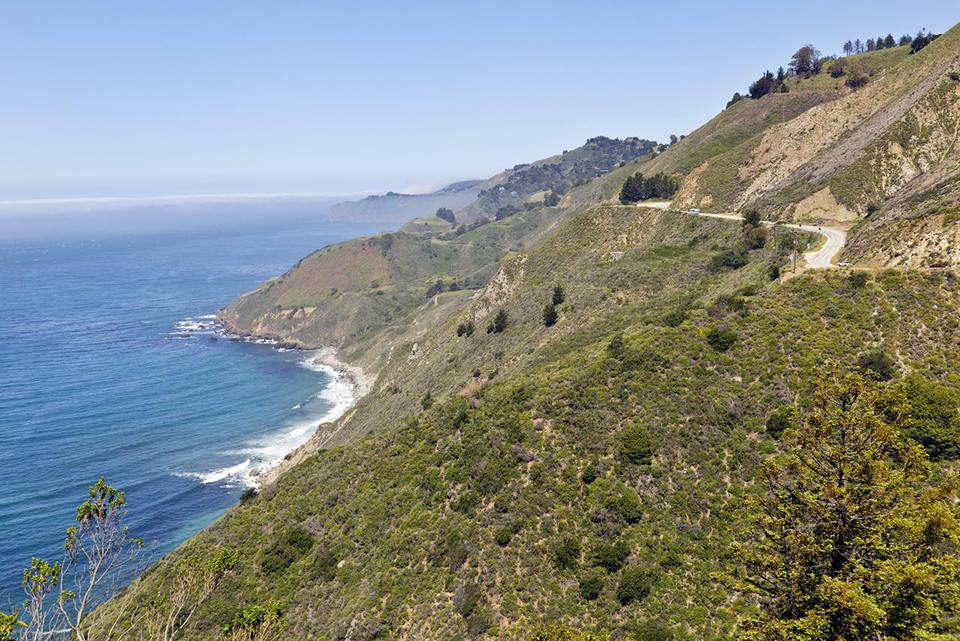Pacific Coast Highway 1 and Big Sur coastline