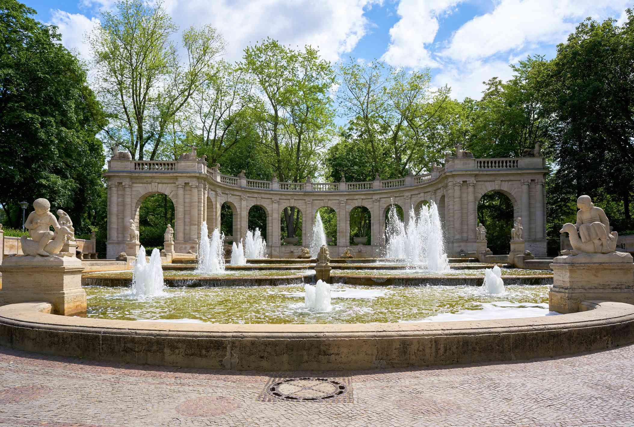 Märchenbrunnen fairytale fountain in the Volkspark Friedrichshain