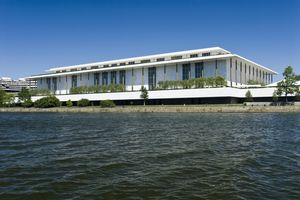 John F. Kennedy Center for the Performing Arts, from Potomac River.