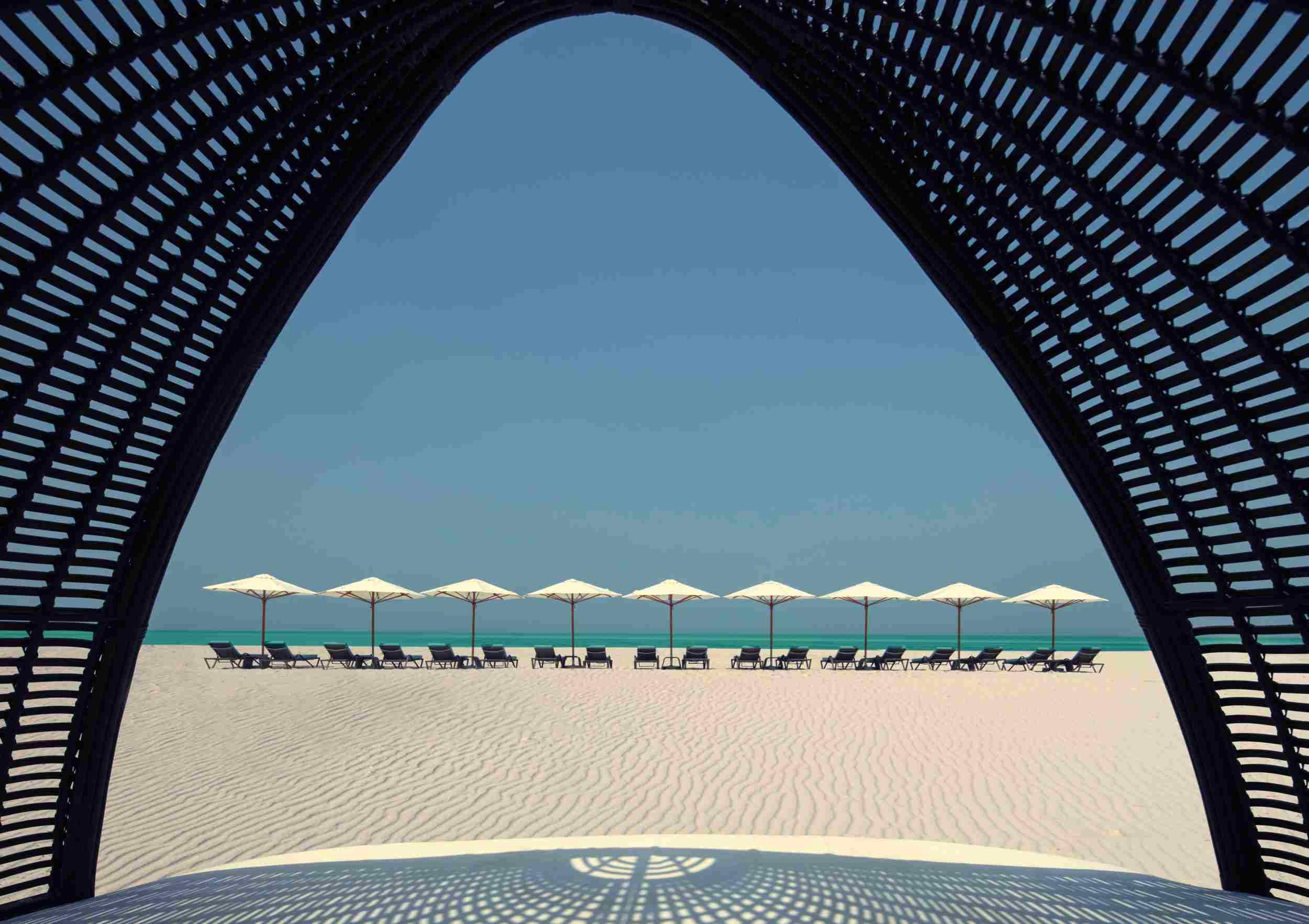 Arabian Gulf seen from the St. Regis Saayidat Island Resort