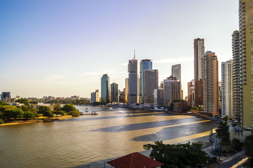 Brisbane River with city skyline in the background