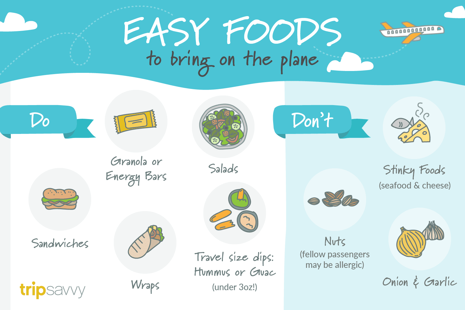 what snacks can i take on an international flight