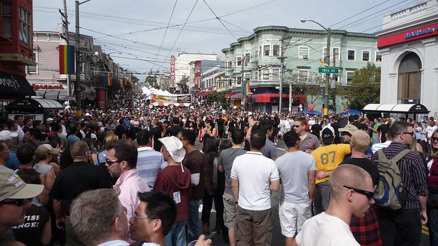 Overview of the Castro Street Fair.