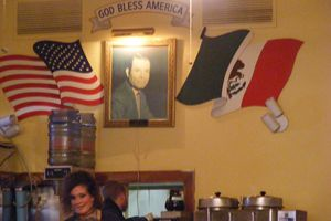 A tribute to Joe Rangle is proudly displayed on the restaurant's wall