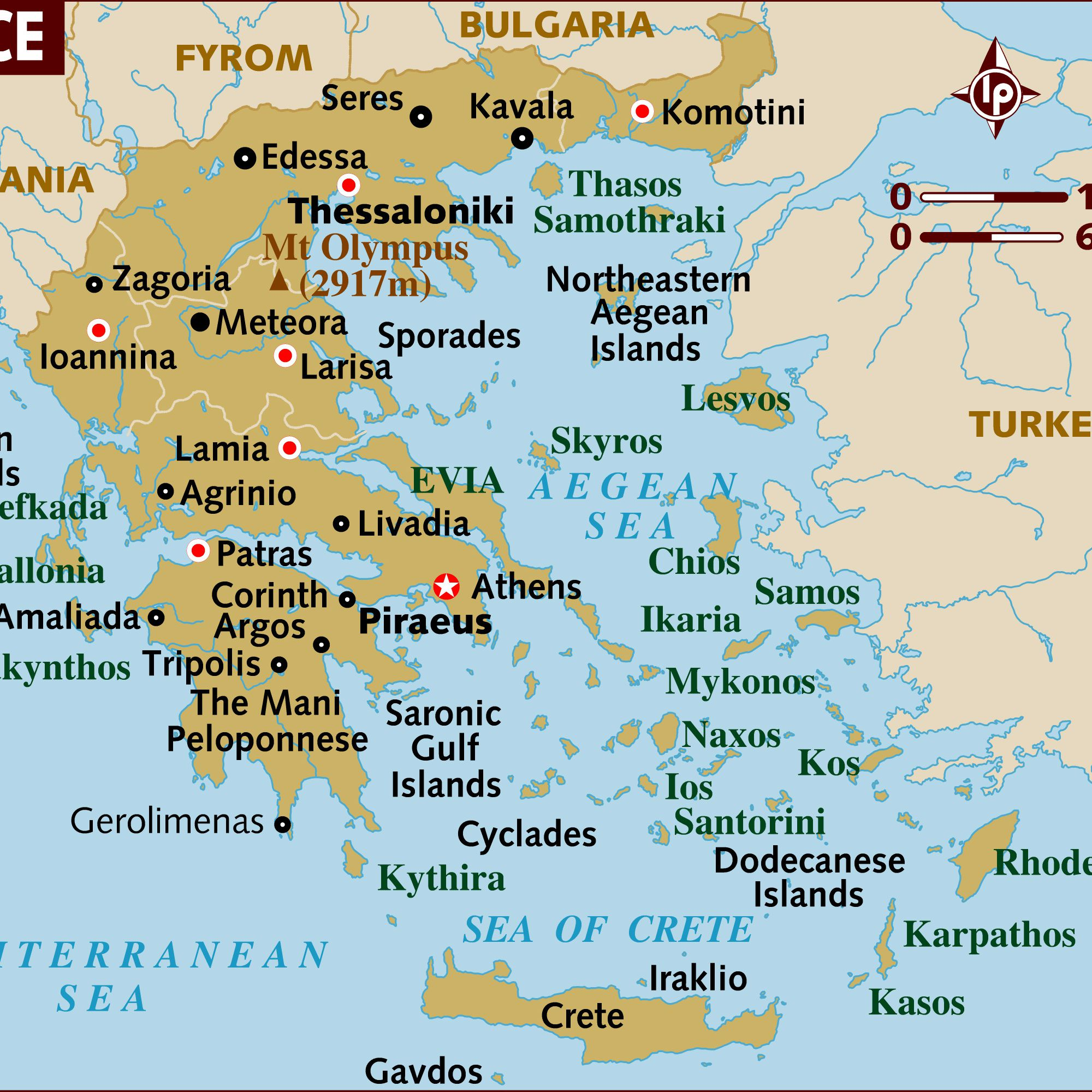 Picture of: Map Of Greece A Basic Map Of Greece And The Greek Isles