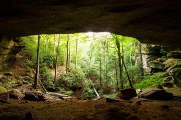 Applachian cave opening in Eastern Kentucky