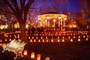 Luminaria Tour in Albuquerque at Christmas