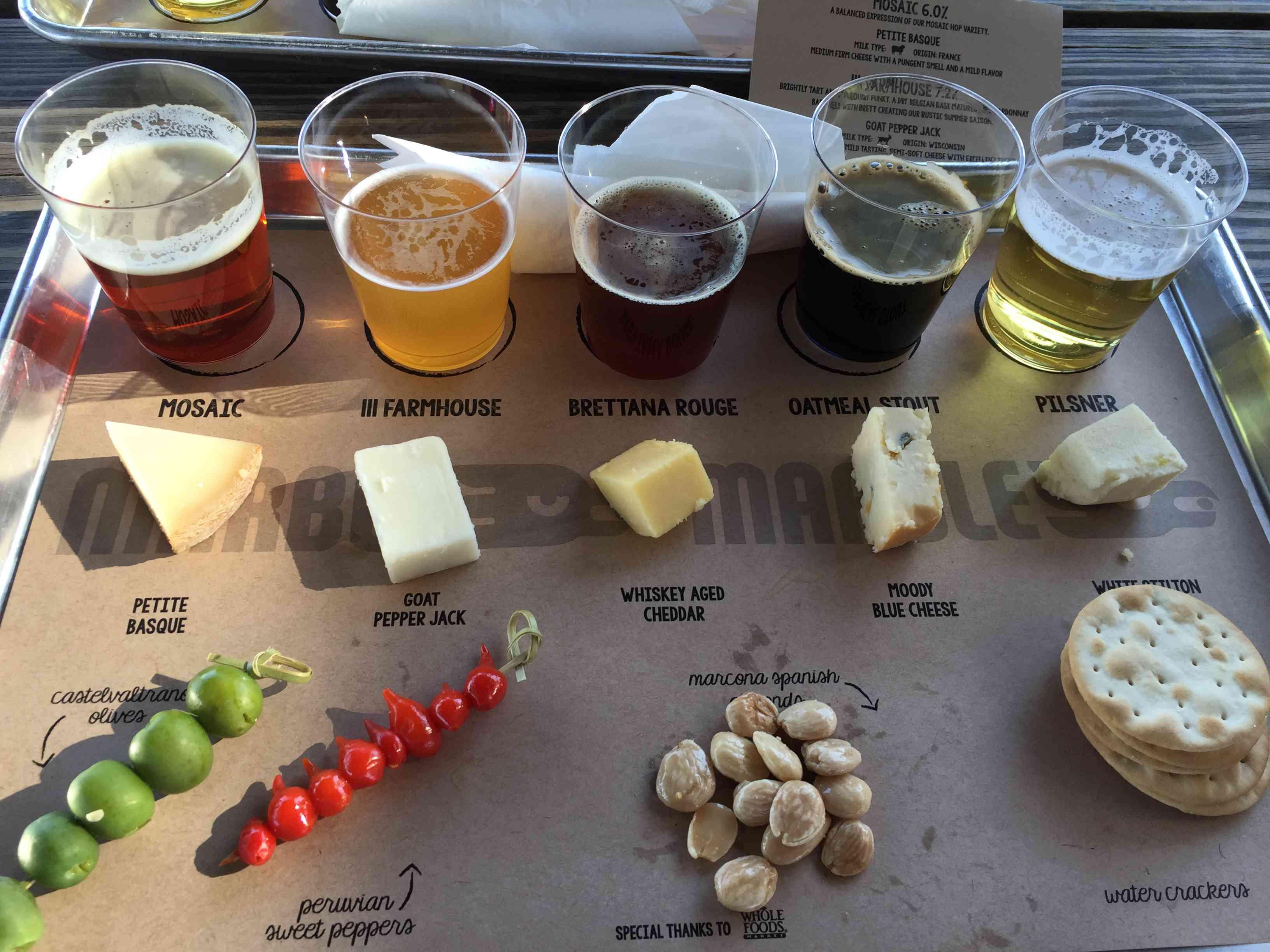Beer and snack samples at ABQ Beer Week