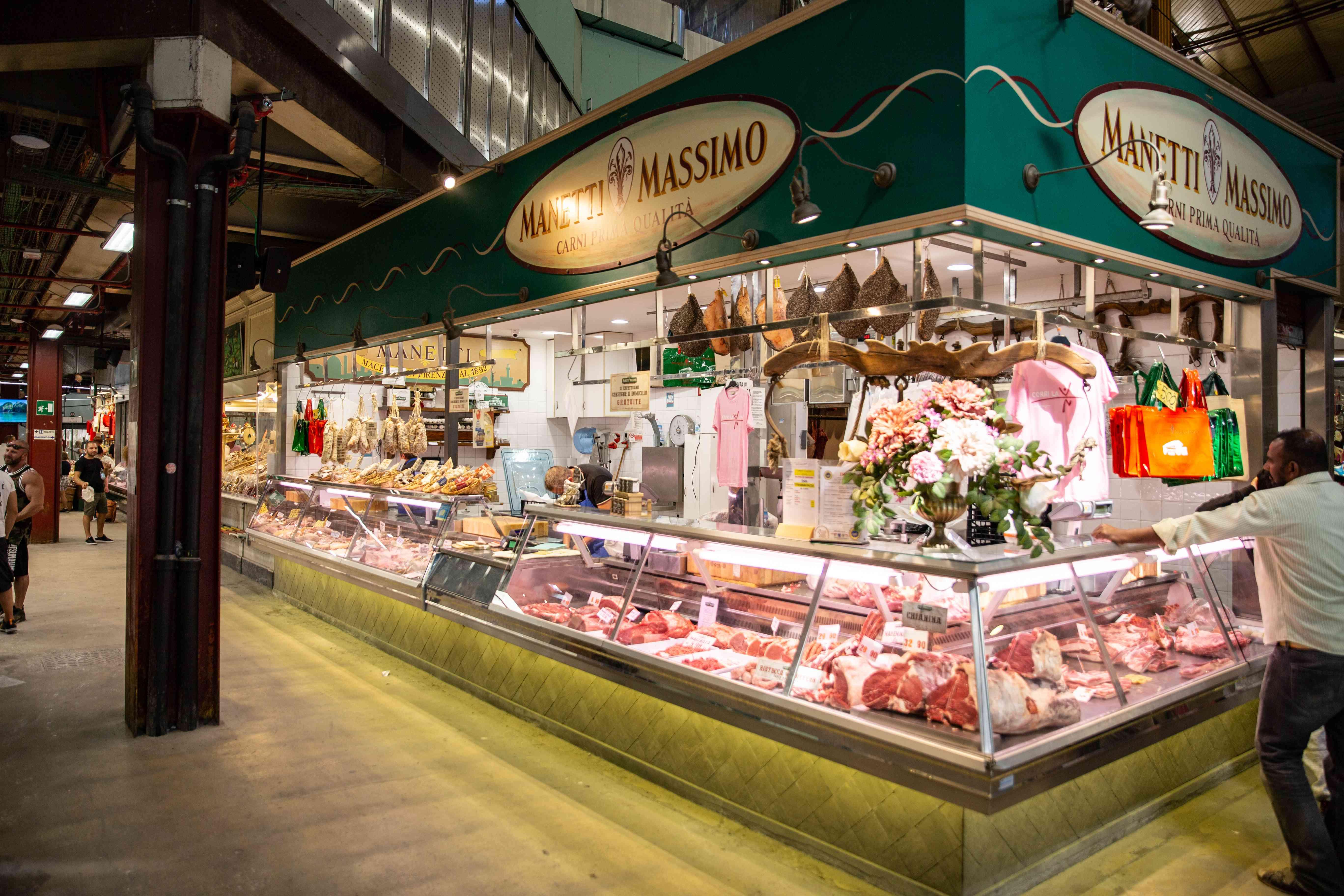 Mercato Centrale in San Lorenzo Market, Florence, Italy