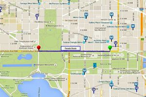 National Cherry Blossom Parade Route Map