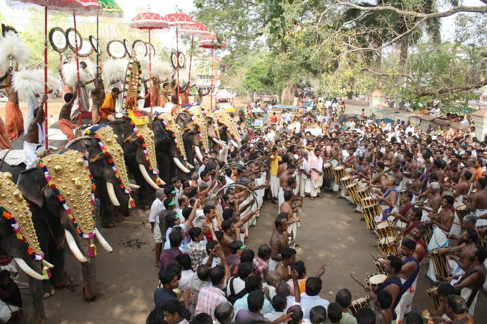 Kerala temple festival.