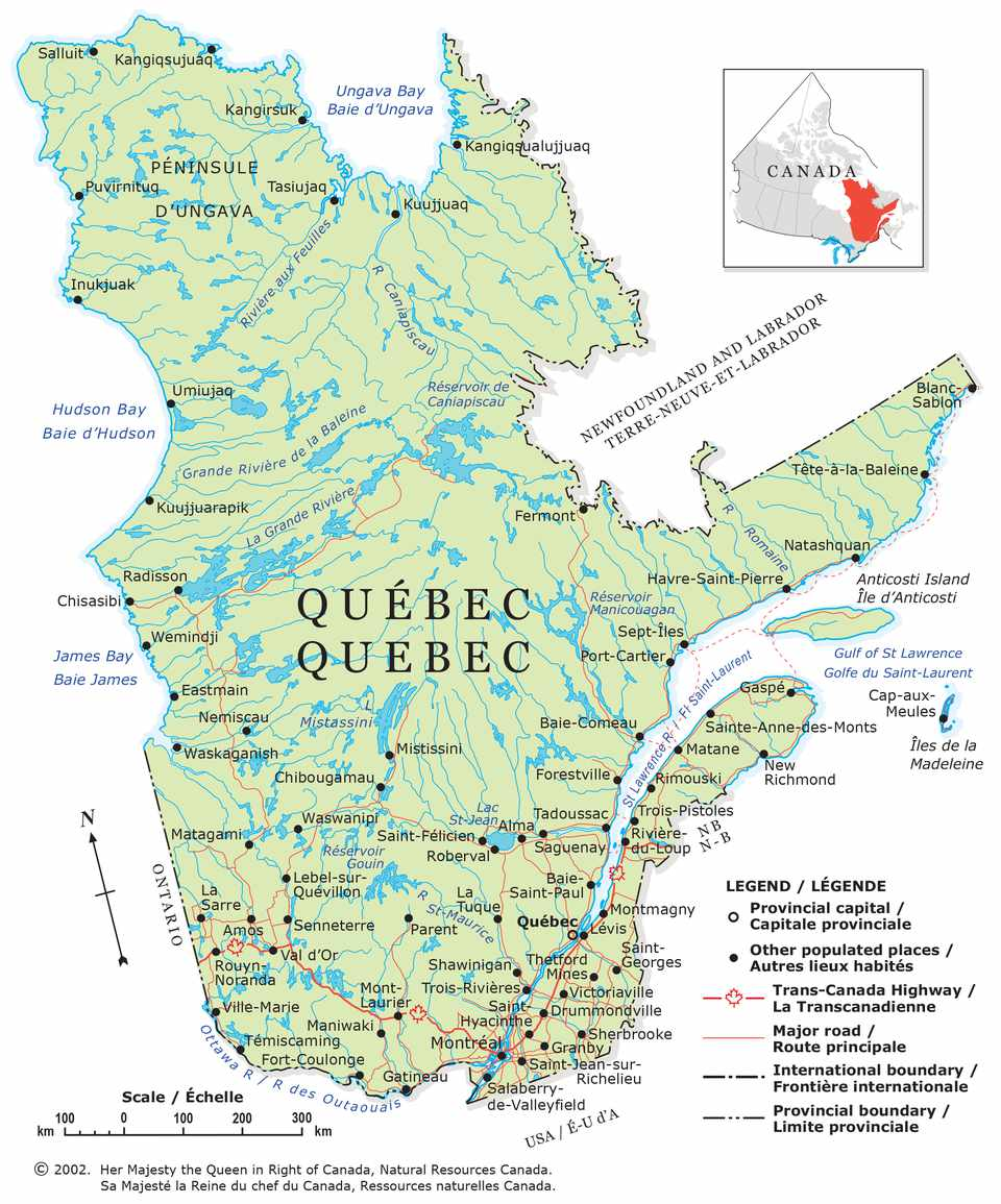 Map Of Canada James Bay.Guide To Canadian Provinces And Territories