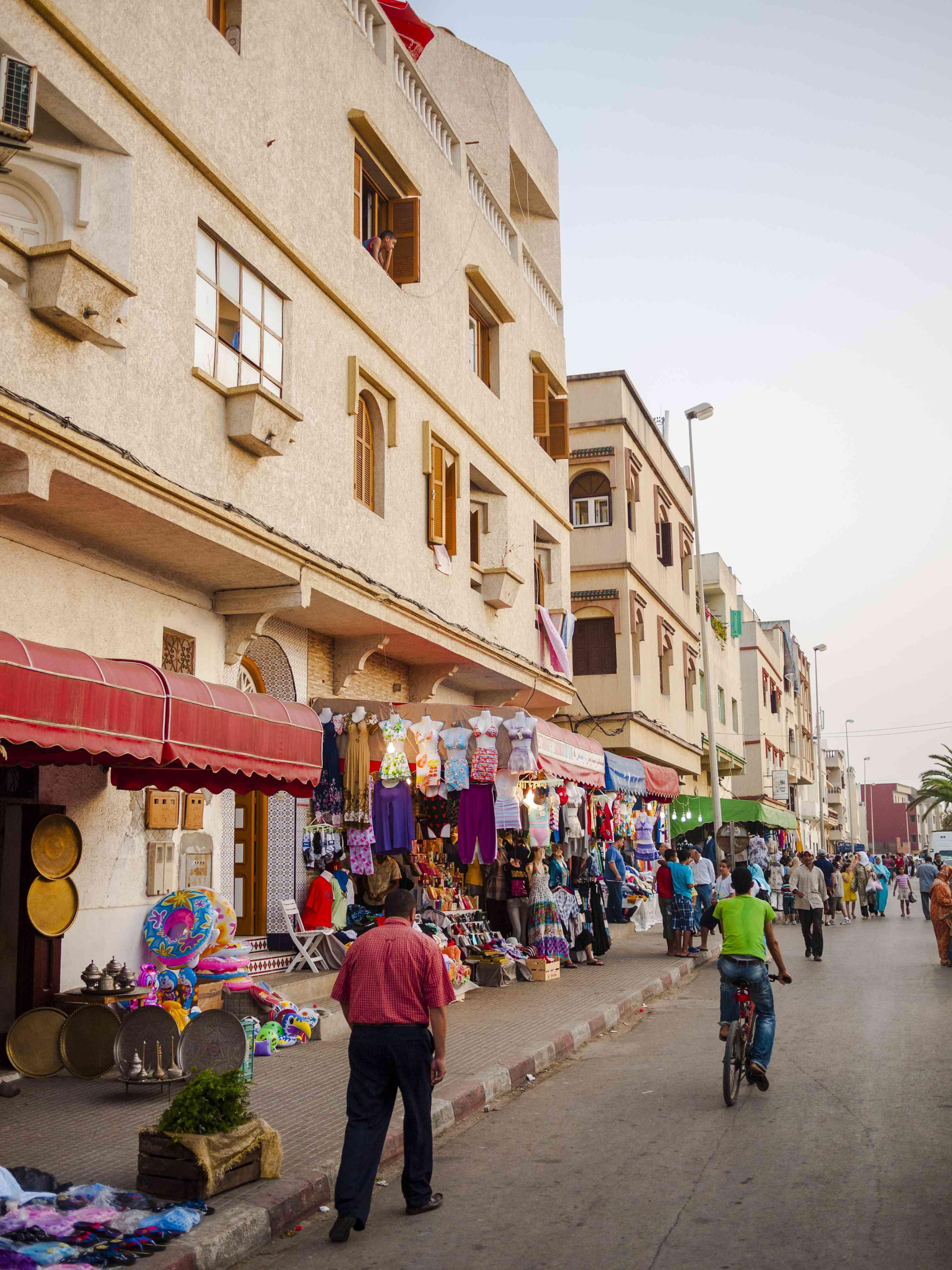 Street in Asilah, Morocco