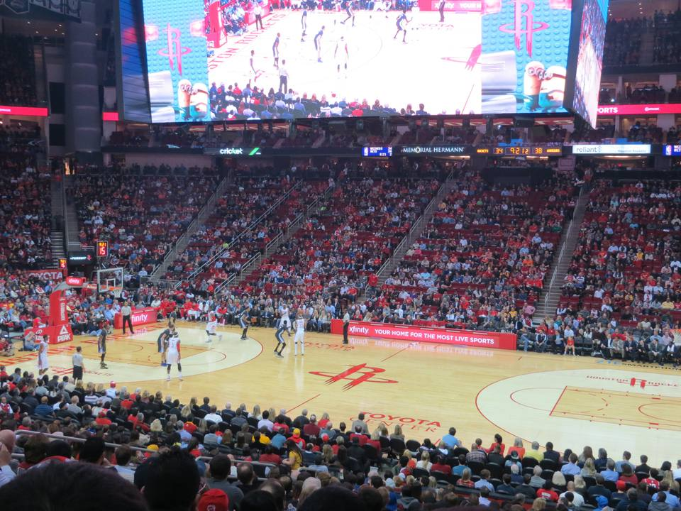 toyota center: travel guide for a rockets game in houston