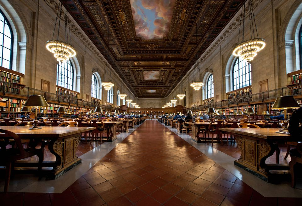 Interior of New York Public Library, Manhattan, New York City, USA