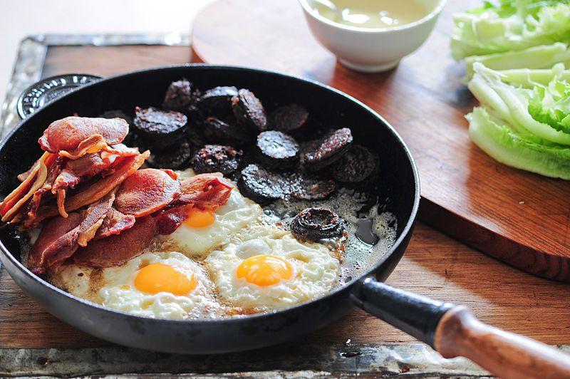 full irish breakfast in pan