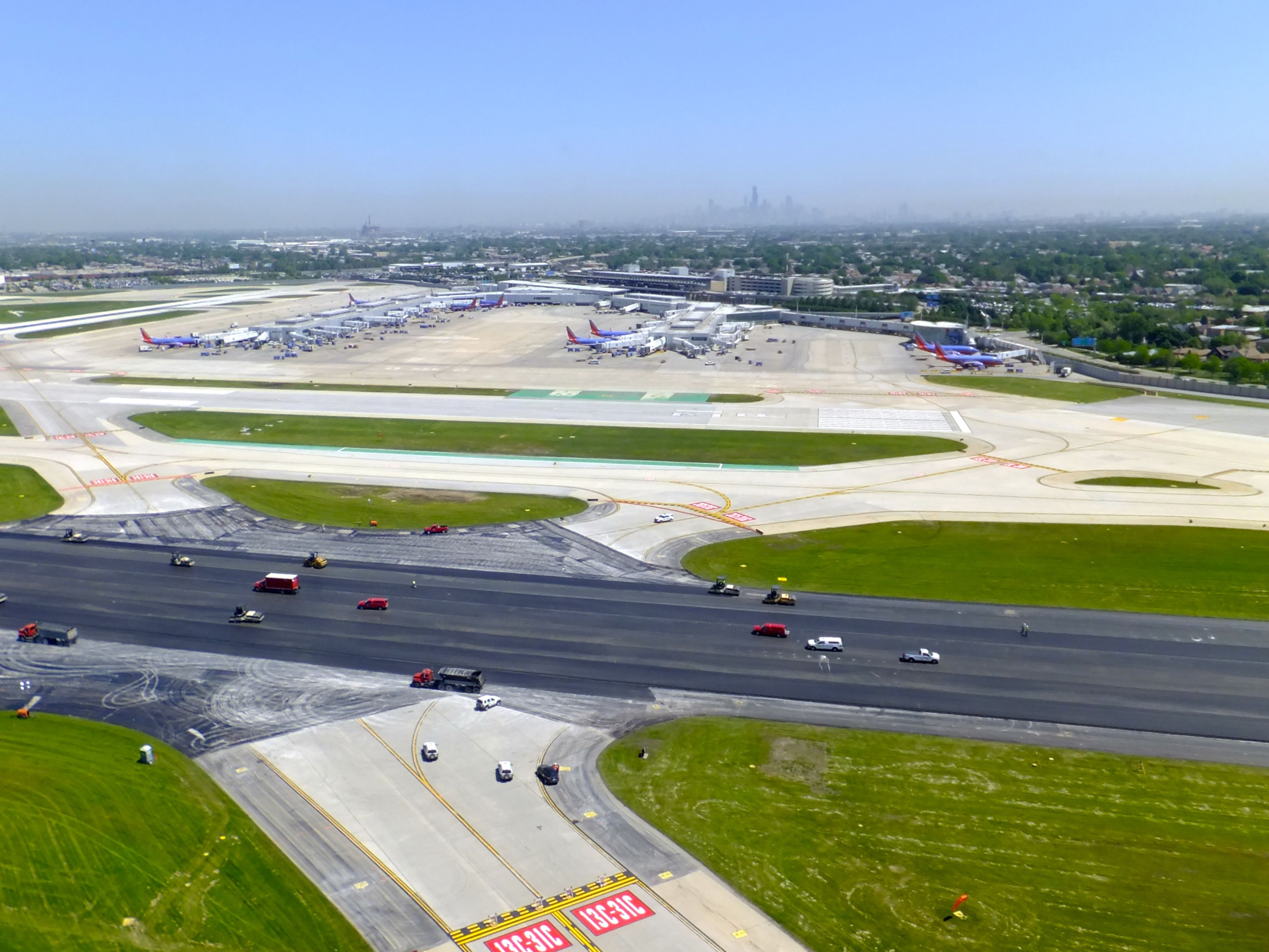 Aerial view of Chicago's Midway Airport