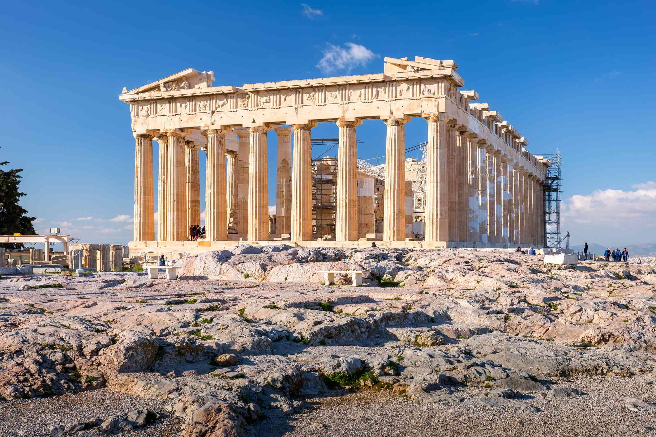 El Partenón en la Acrópolis
